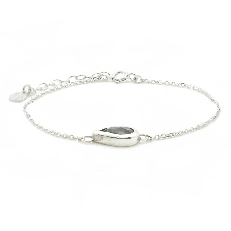 Bracelet argent labradorite goutte divine