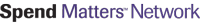 Spend Matters Network in black and purple lettering