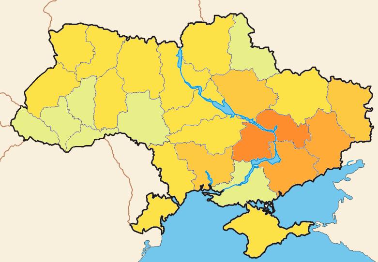 ukraine color map