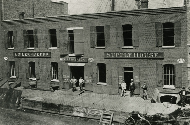 J.T. Ryerson's original iron store, circa 1842. Source: ryerson.com
