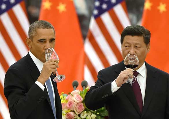 obama xi jinping drink wine