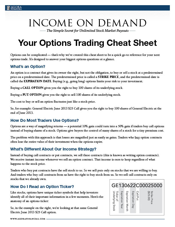Use option trading for income