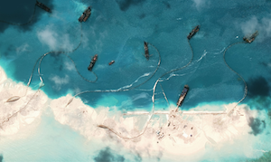 South China Sea building reefs