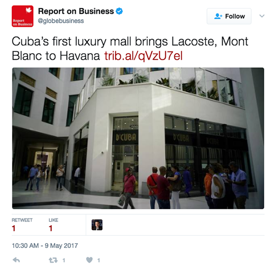 Report on Business tweet