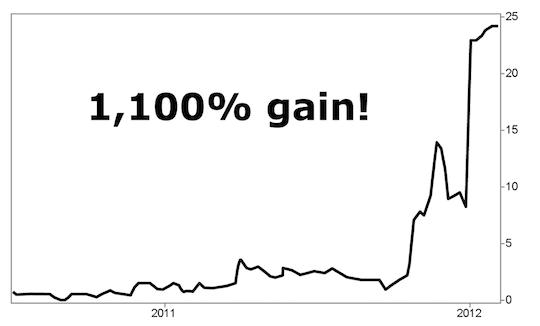 1,100% gain!