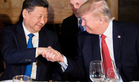 Trump and Chinese President Xi Jinping