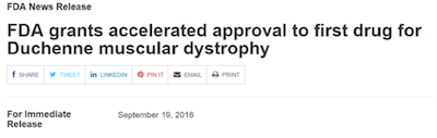 FDA grants accelerated approval headline