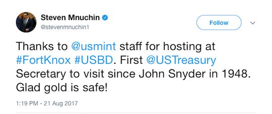 Steven Mnuchin tweet