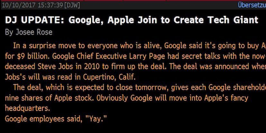 Apple & Google acquisition