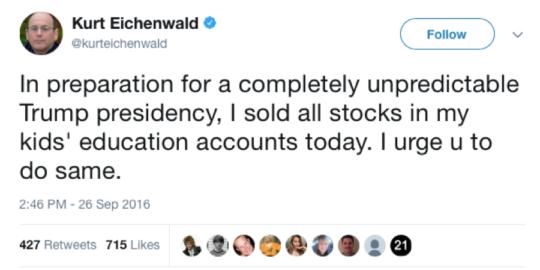 Kurt Eichenwald Tweet
