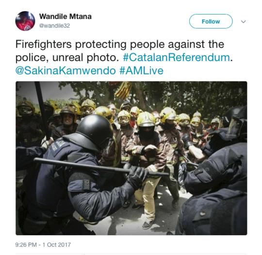 Wandile Mtana tweet