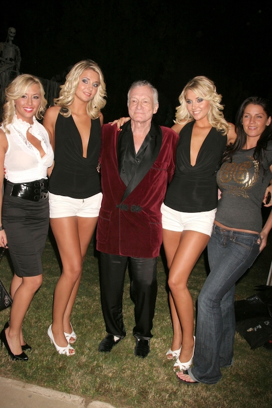 hugh hefner and models