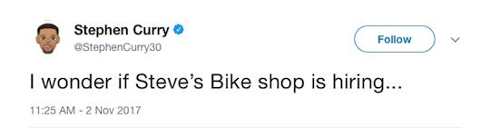 Stephen Curry tweet