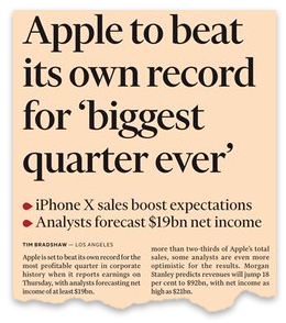 Apple to beat its own record for biggest quarter ever