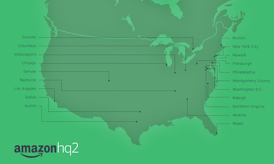 Amazon HQ2 Finalists