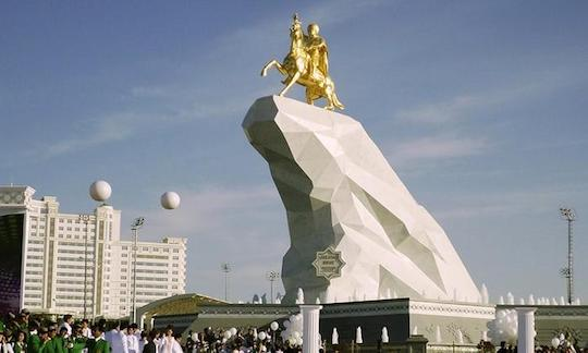 Turkmenistan Statue