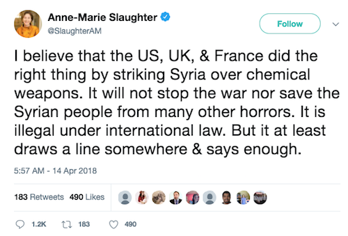 Anne-Marie Slaughter Tweet