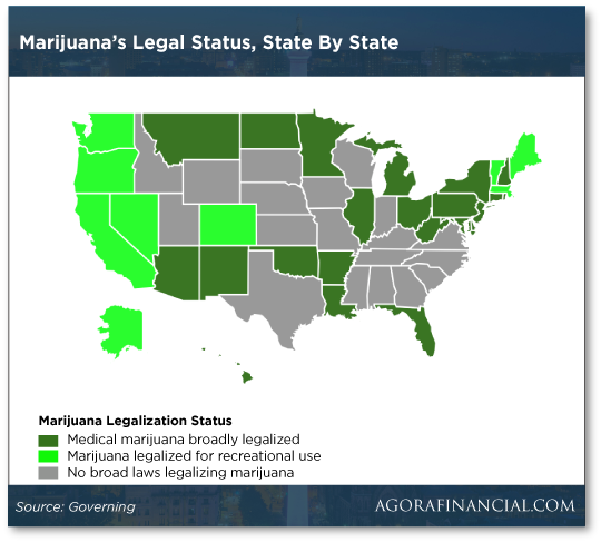 Marijuana's Legal Status, State by State