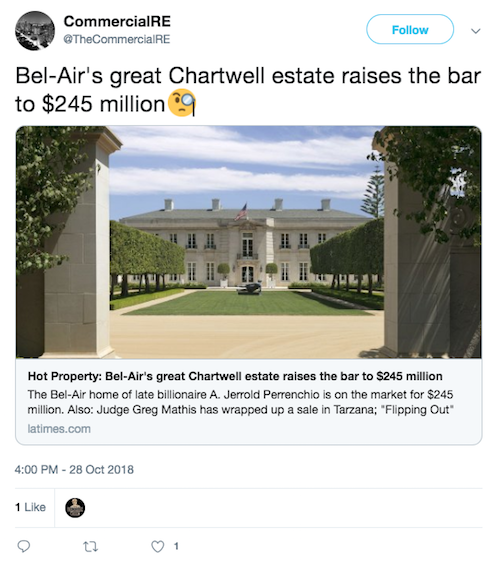 Chartwell Estate Tweet