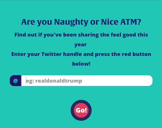 Naughty or Nice ATM?