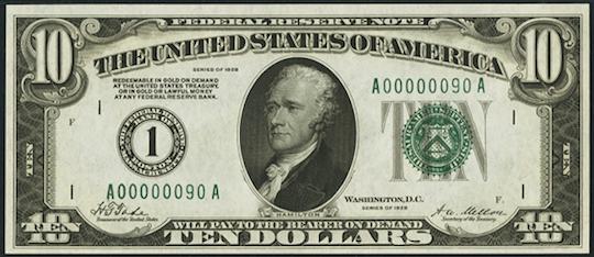 10 Dollar Bill