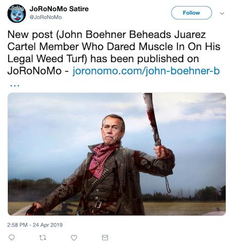 John Boehner Tweet