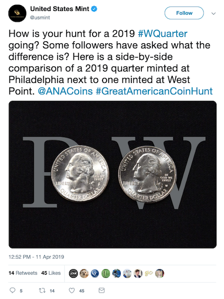 United States Mint Tweet