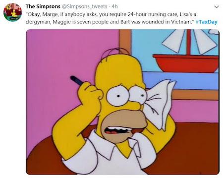 Simpsons tweet