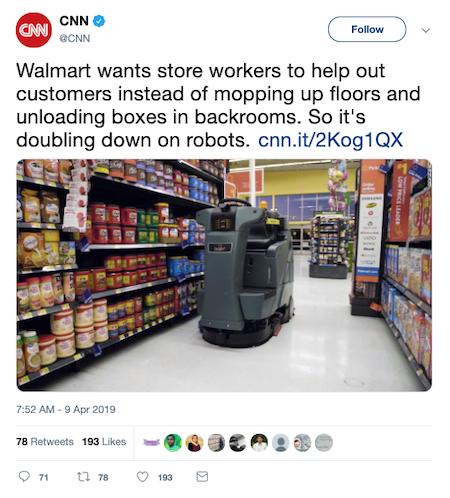 Walmart Tweet