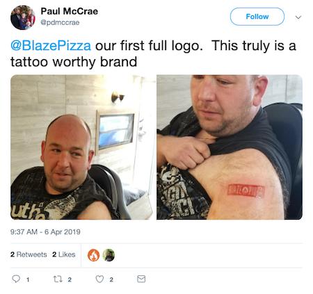 Blaze Pizza Tattoo