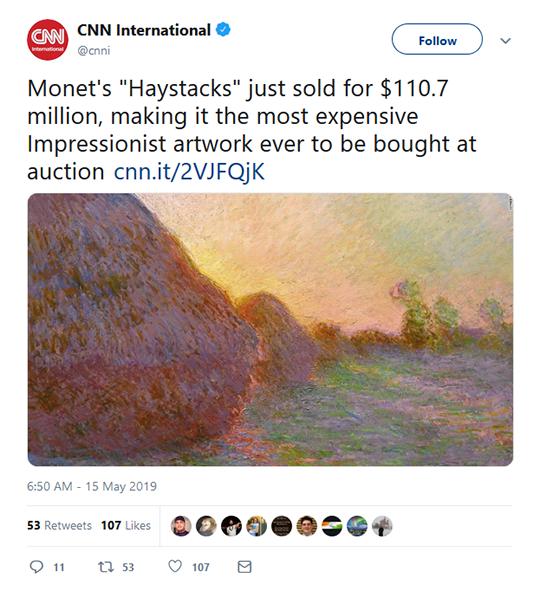 Monet Painting Tweet