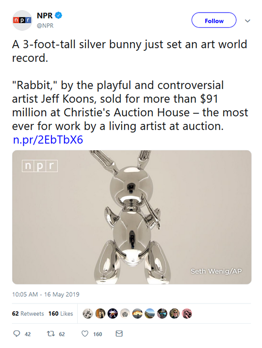 Silver Bunny Art Tweet