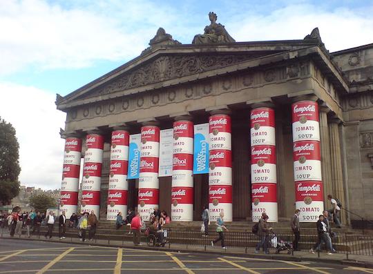 Soup can pillars