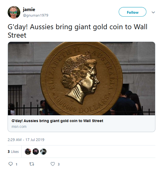 Austrailian Tweet