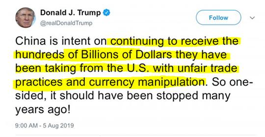 Donald Trump tweet 1
