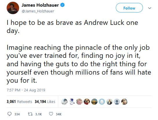 Andrew Luck tweet