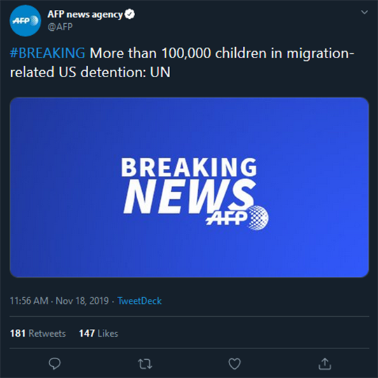 AFP News Agency Migrant Children