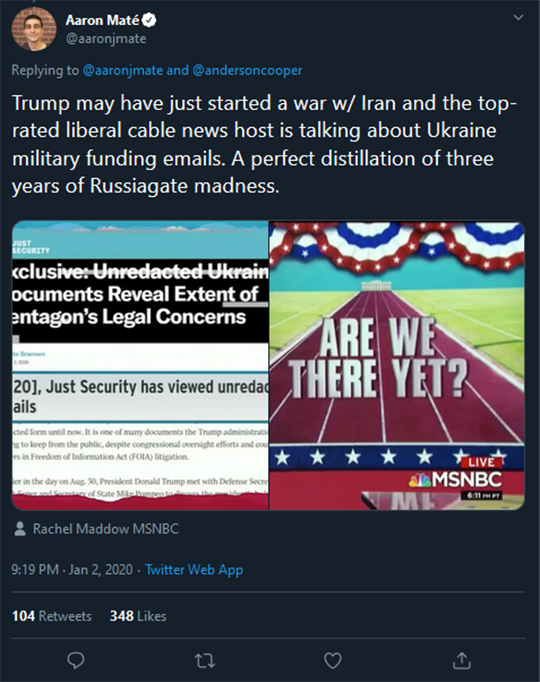 Aaron Mate CNN Tweet