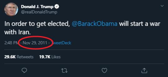 Donald J. Trump Iran Tweet
