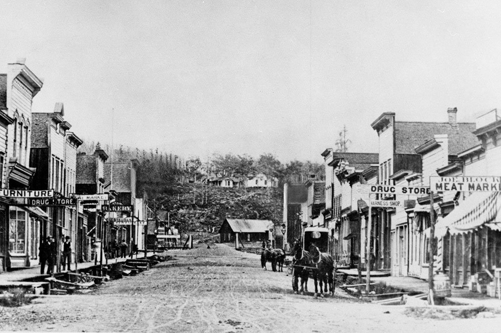 What downtown Crested Butte looked like before two major fires, in 1890 and 1893