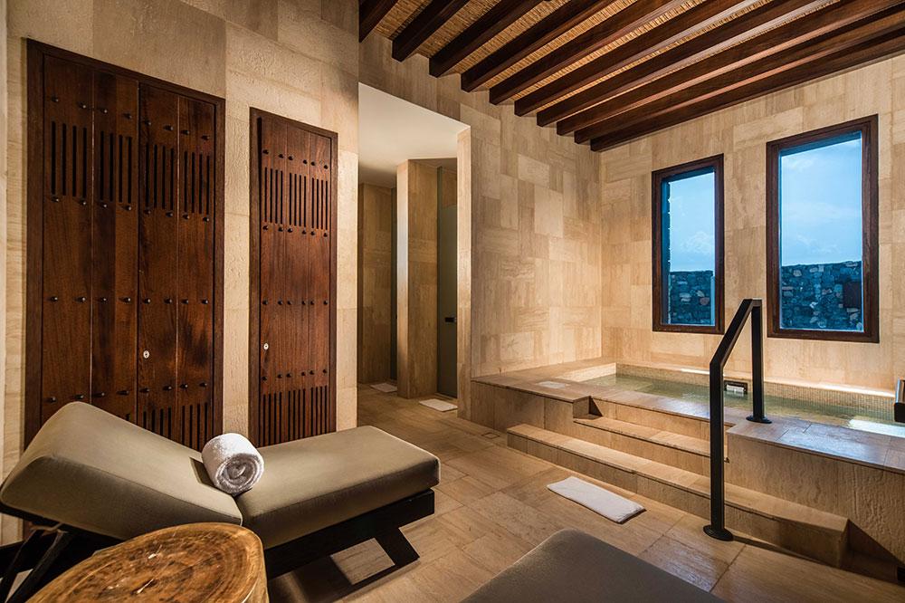 The spa jacuzzi at Alila Jabal Akhdar in Nizwa, Oman