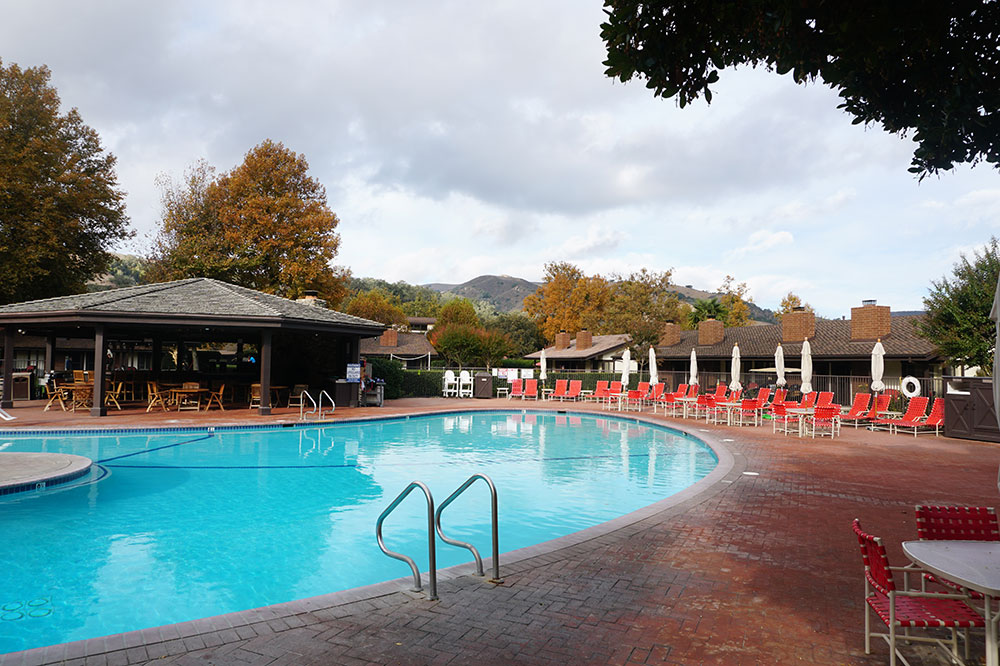 The pool at the Alisal Guest Ranch & Resort