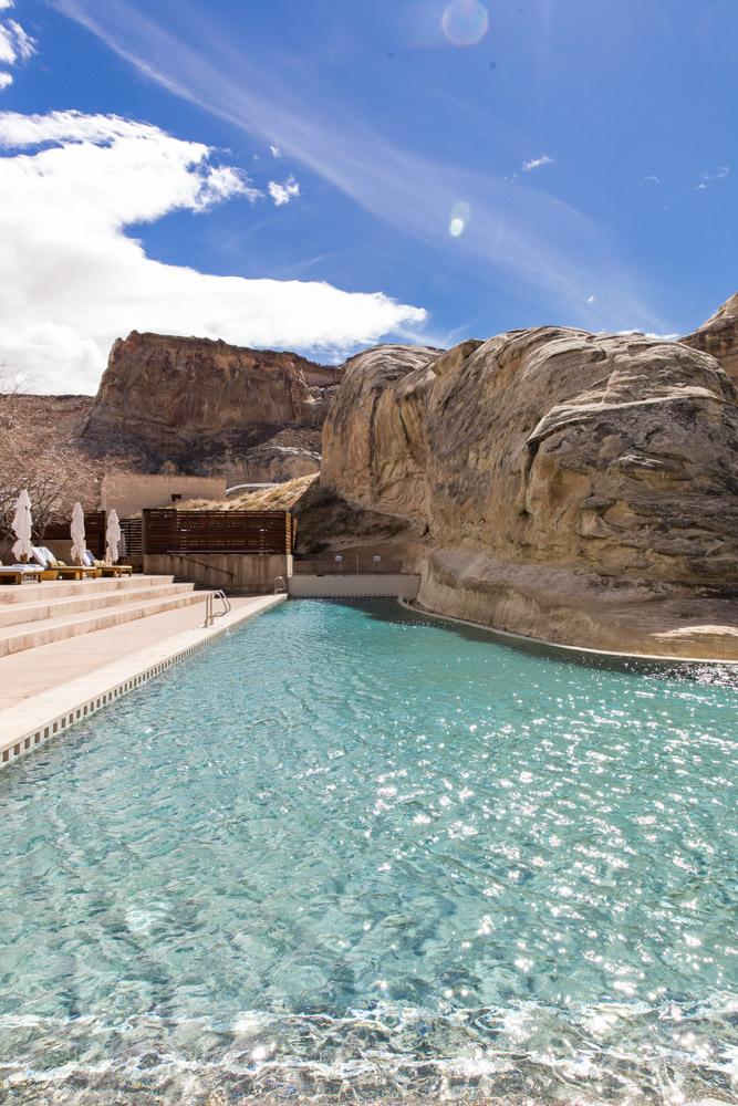 The pool at Amangiri