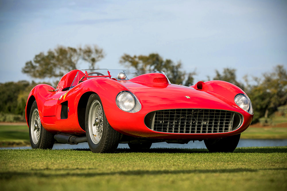 Best in Show, 1957 Ferrari 335 S, at the 2019 Amelia Island Concours d'Elegance in Amelia Island, Florida