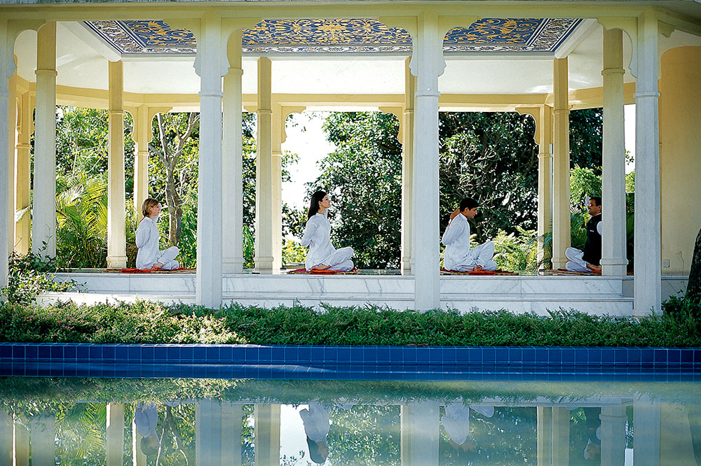 Yoga at the Ananda in the Himalayas in Tehri, Garhwal, Uttarakhand, India