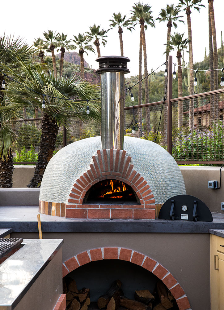 A wood-fired oven at Castle Hot Springs