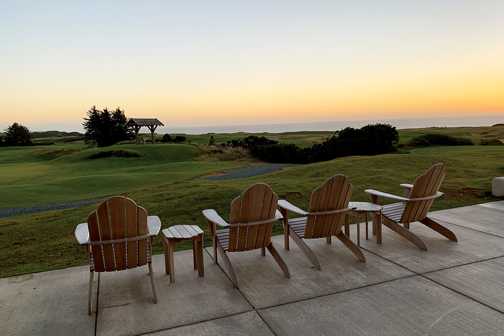 View from the Sheep Ranch Clubhouse at Bandon Dunes