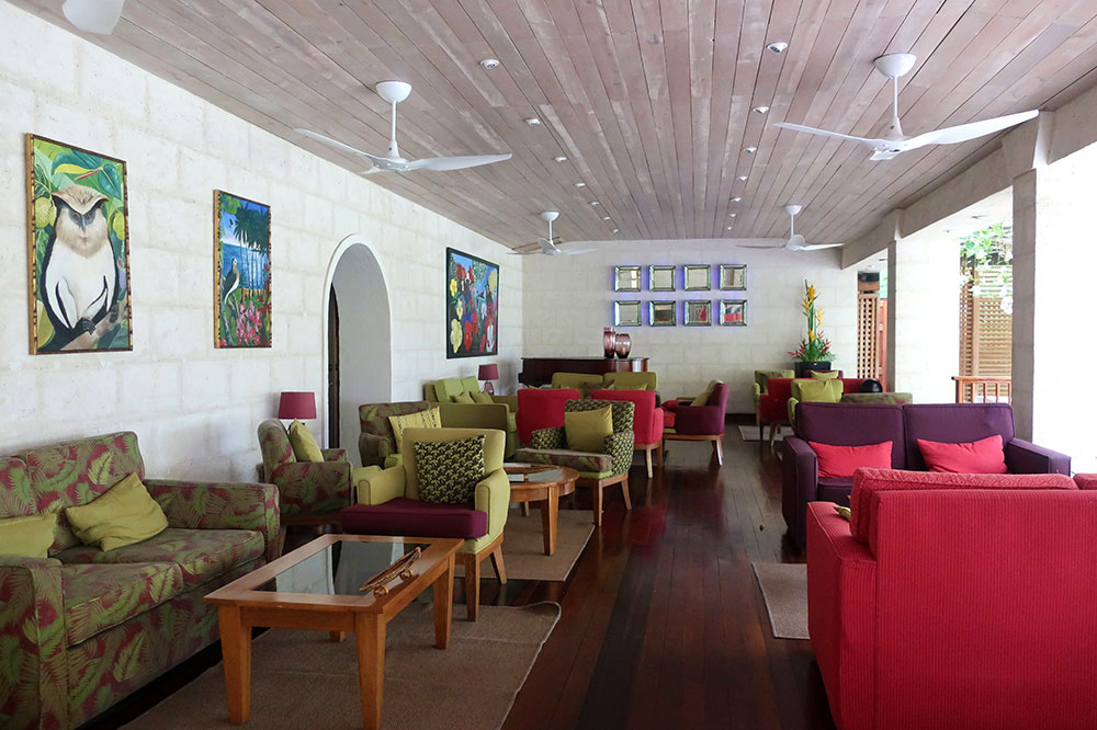 The lounge at Calabash Luxury Boutique Hotel