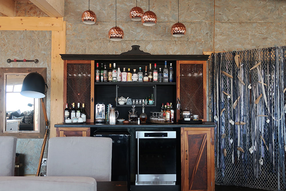 The bar atShipwreck Lodge