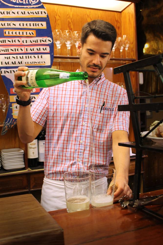 Bartender at Bar Txepetxa